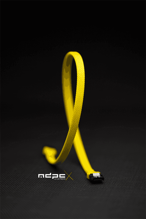 Sleeve SATA - Yellow - 1m