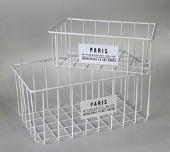 Canasto Paris rectangular blanco