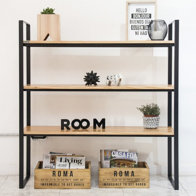 Biblioteca Industrial Con Locker - roomdeco