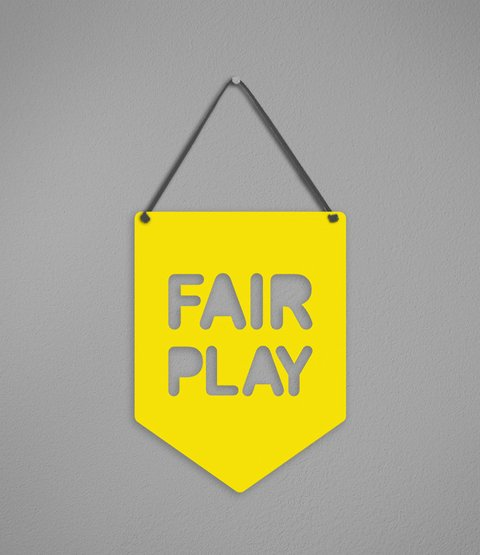 Plaquinha Fair Play