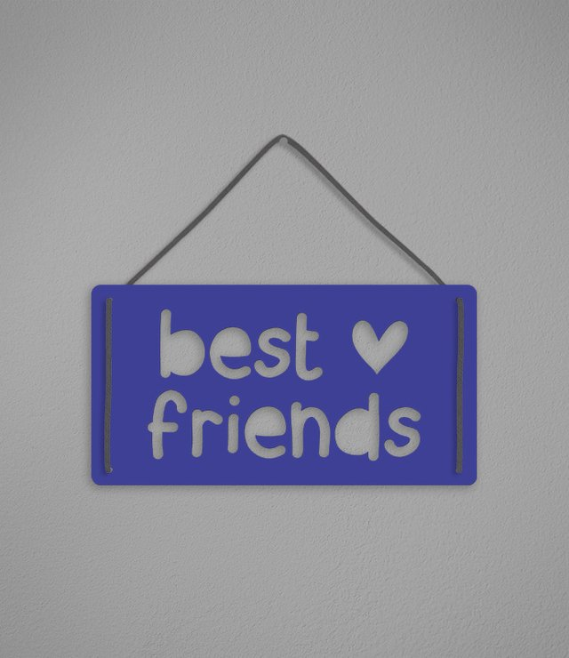Plaquinha Best Friends - [pendurama]