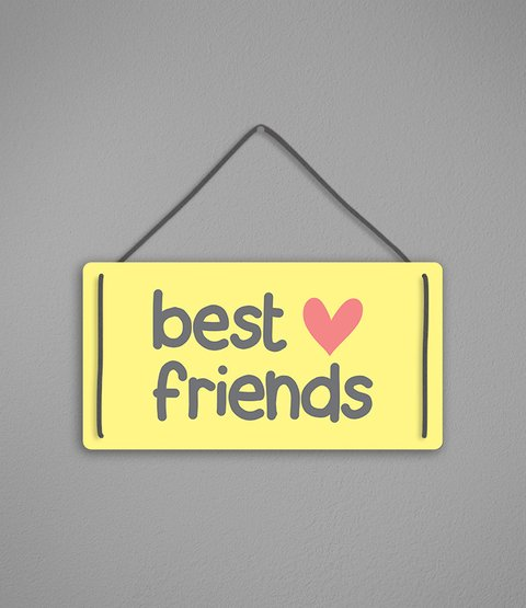 Placa Best Friends - comprar online