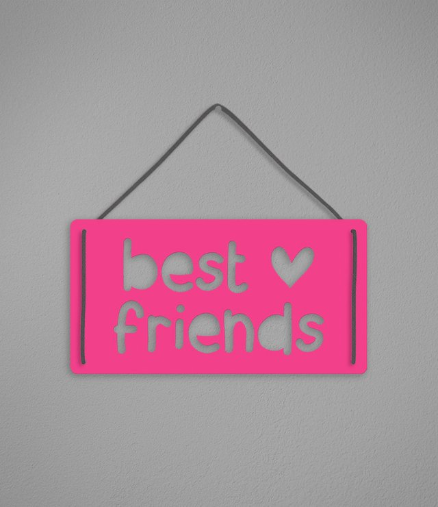 Plaquinha Best Friends - comprar online
