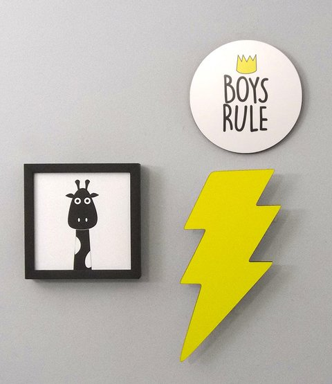 Placa Boys Rule