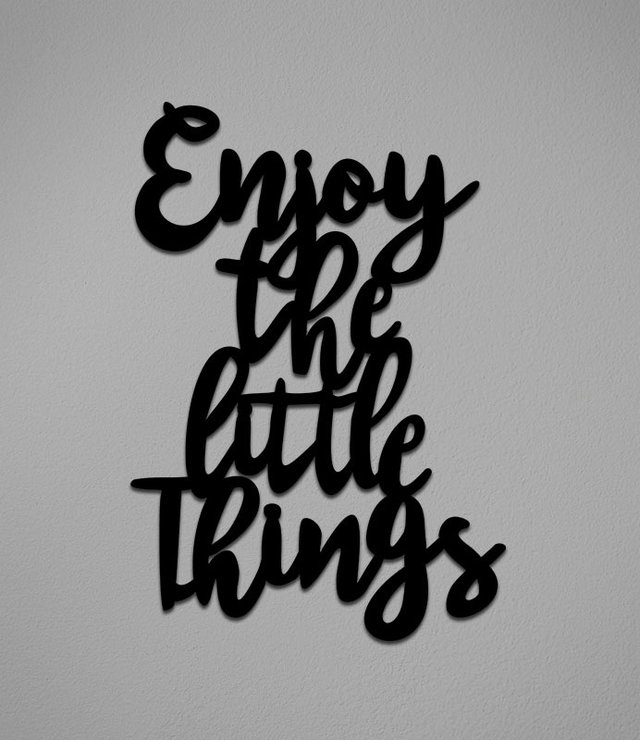 Placa Enjoy The Little Things - comprar online
