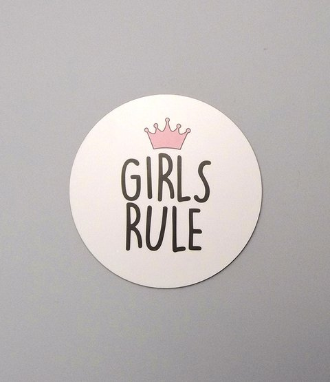Placa Girls Rule