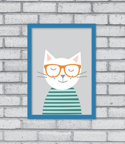 Quadro Hipster Kitty