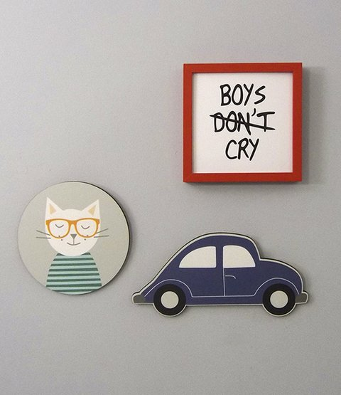 Placa Hipster Kitty