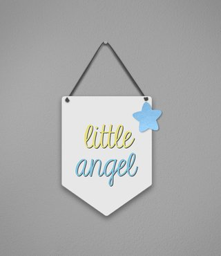 Plaquinha Little Angel - comprar online