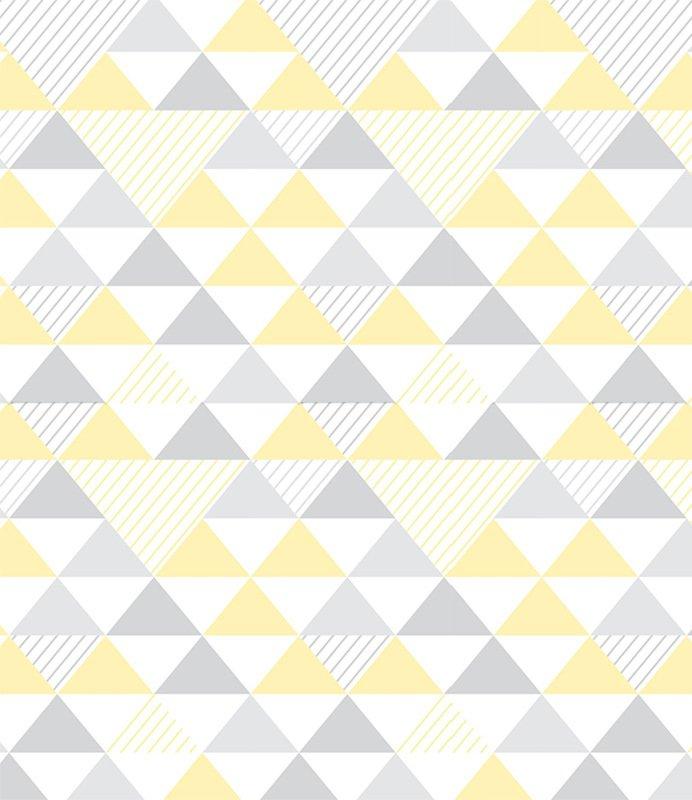 Adesivo De Unhas Para Formatura ~ Papel de Parede Adesivo Geométrico Triangulos Tons de Amarelo