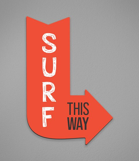 Placa Surf This Way - comprar online
