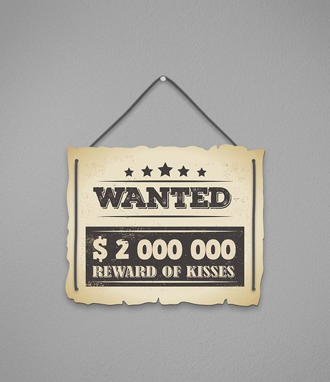 Placa Wanted