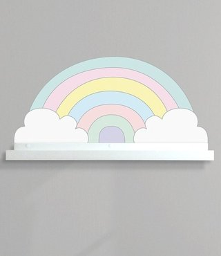 Prateleira + Adesivo Rainbow Candy