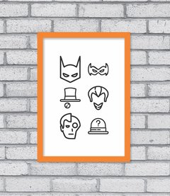 Quadro Bat Icons na internet