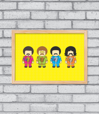 Quadro Sgt. Pepper na internet