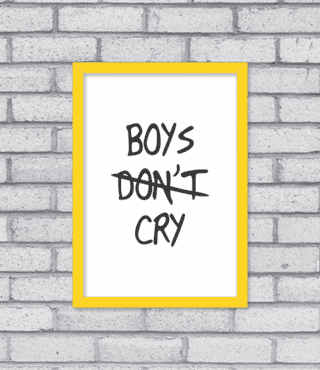 Quadro Boys Cry na internet