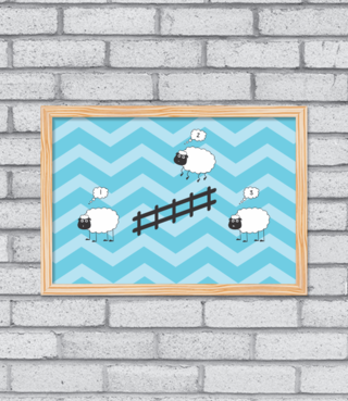 Quadro Counting Sheep - comprar online