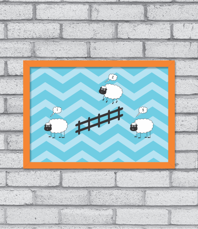 Quadro Counting Sheep na internet