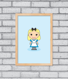 Quadro Cute Alice na internet