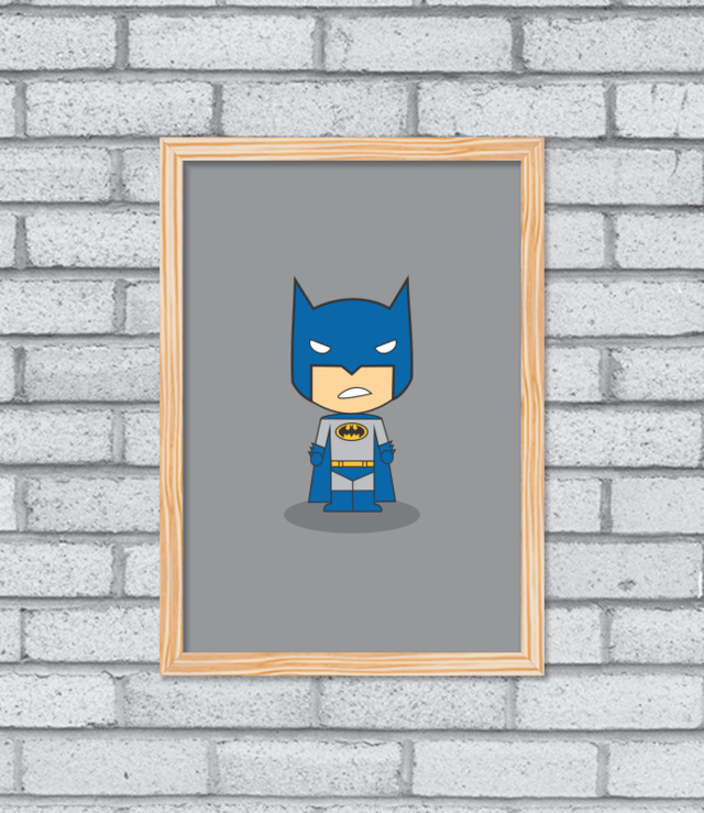 Quadro Cute Batman na internet