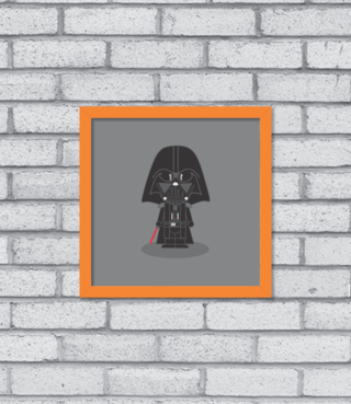 Quadro Cute Darth Vader na internet