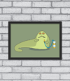 Quadro Cute Jabba the Hutt - [pendurama]