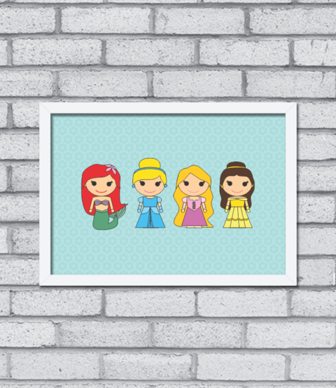Quadro Cute Princess