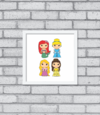 Quadro Cute Princess na internet