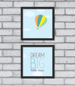 Quadro Dream Big (duplo) - [pendurama]