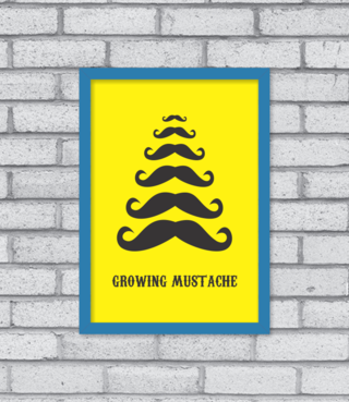 Quadro Growing Mustache