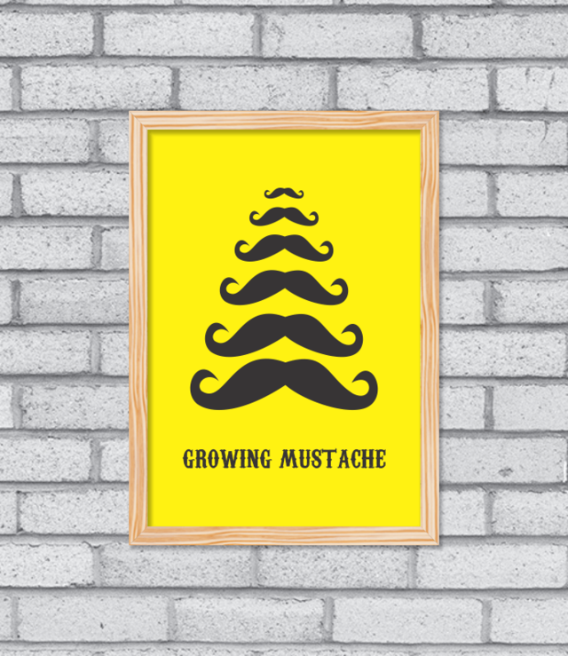 Quadro Growing Mustache na internet