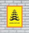 Quadro Growing Mustache - [pendurama]