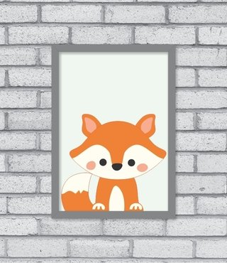 Quadro Hey Fox na internet