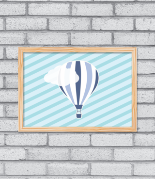 Quadro Hot Balloon - [pendurama]