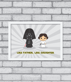 Quadro Like Father, Like Daughter - comprar online