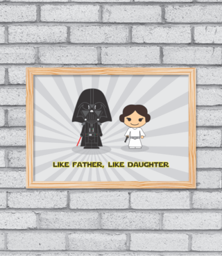Quadro Like Father, Like Daughter na internet