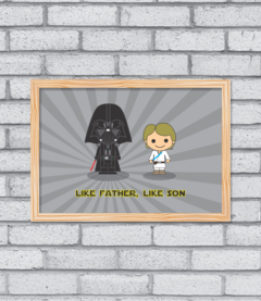 Quadro Like Father, Like Son na internet