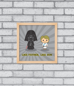 Quadro Like Father, Like Son - comprar online