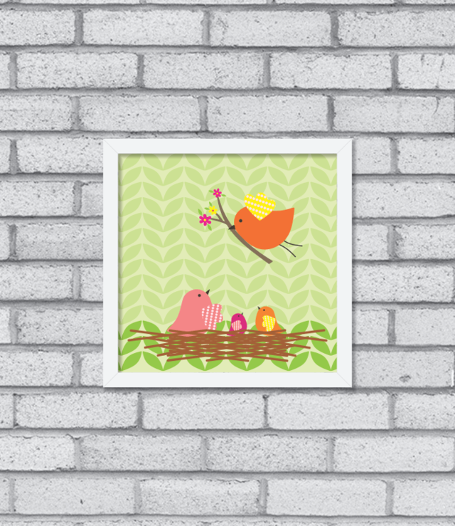 Quadro Little Birds na internet