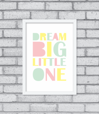 Quadro Dream Big Little One na internet