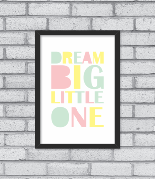 Quadro Dream Big Little One - loja online