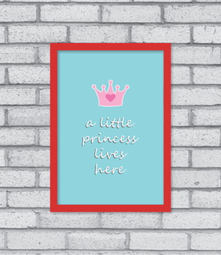 Quadro Little Princess - [pendurama]