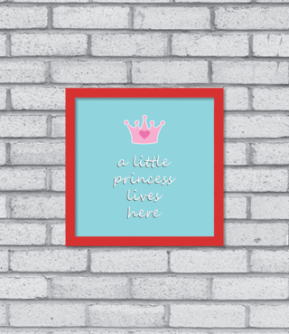 Quadro Little Princess na internet