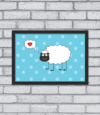 Quadro Loving Sheep - [pendurama]