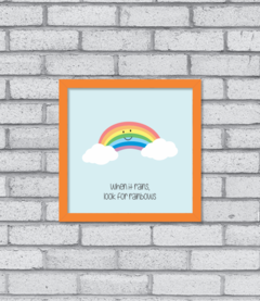 Quadro Look for Rainbows na internet