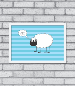 Quadro Sheep Asleep - comprar online