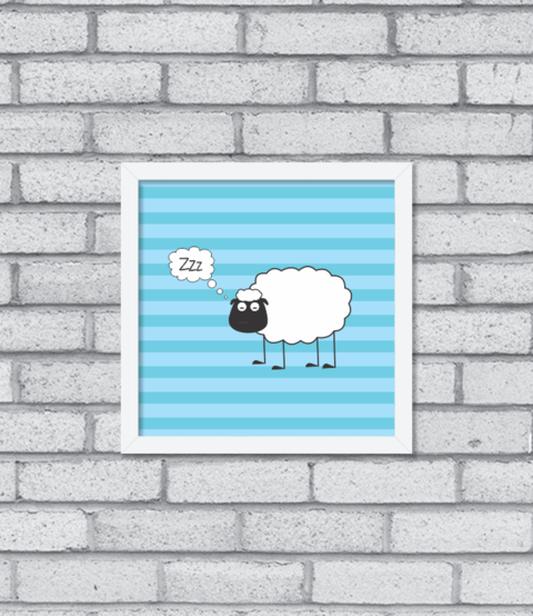 Quadro Sheep Asleep