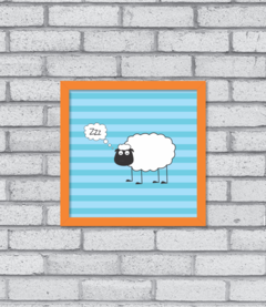 Quadro Sheep Asleep na internet