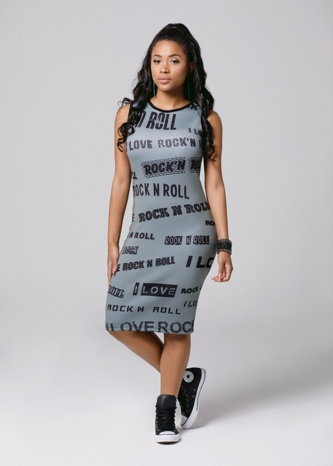Vestido Midi Rock And Roll