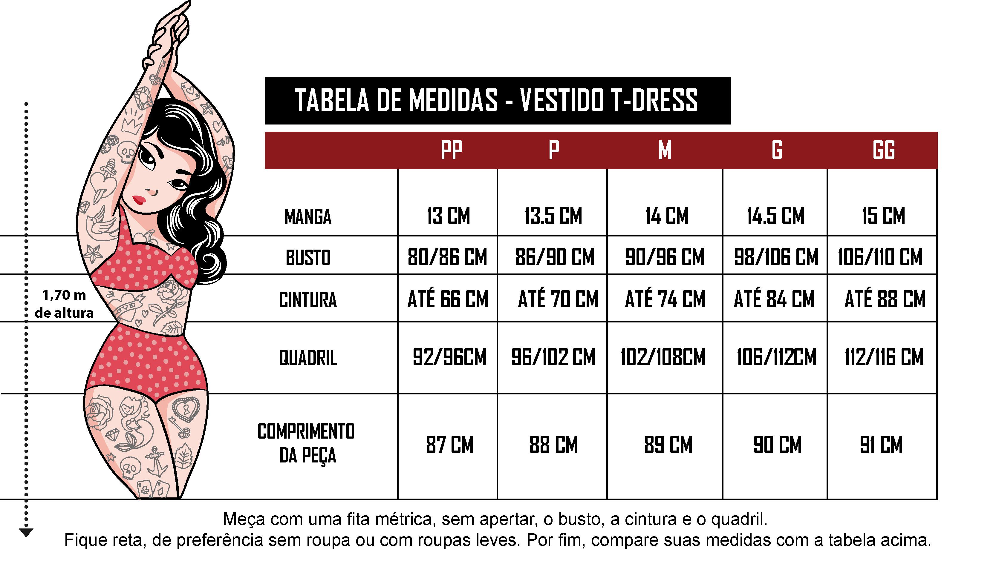 Tabela de Medidas Trato no Farrapo